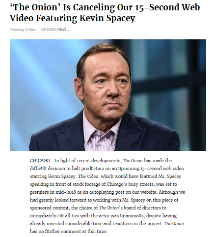 'The Onion_ Is Canceling Our 15 Second Web Video Featuring Kevin Spacey